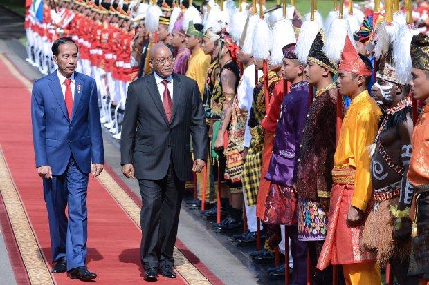 Presiden Jokowi bertemu Presiden Afrika Selatan