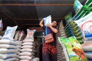 pedagang beras