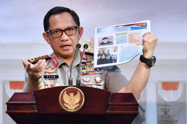 Polisi, Demonstrasi, Pelantikan Jokowi.