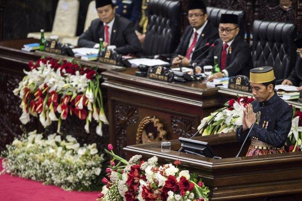 Jokowi Di DPR/MPR