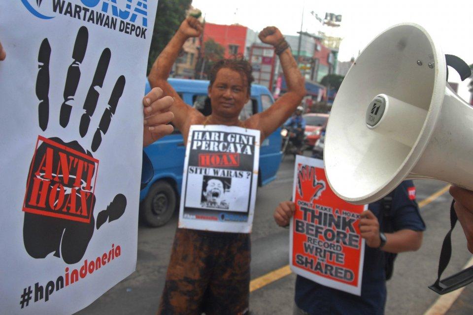 Demonstrasi anti-hoax