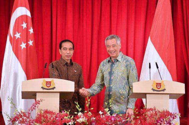 Presiden Jokowi dan Perdana Menteri Singapura Lee Hsien Loong