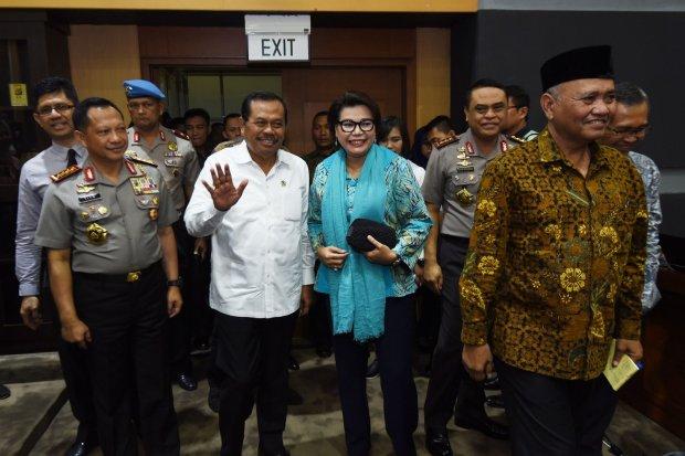 Jaksa Agung HM Prasetyo, Kapolri Jenderal Pol Tito Karnavian, Ketua KPK Agus Rahardjo