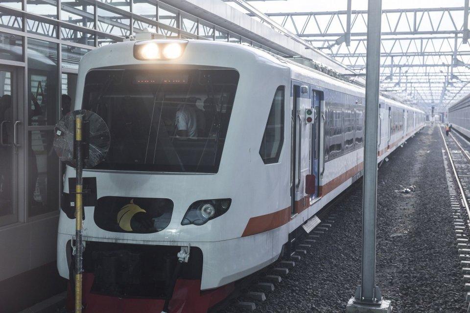 banjir jakarta 2020, kereta api bandara soekarno-hatta, operasi kereta api bandara