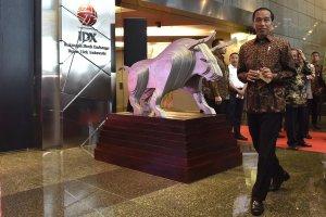 Jokowi di BEI