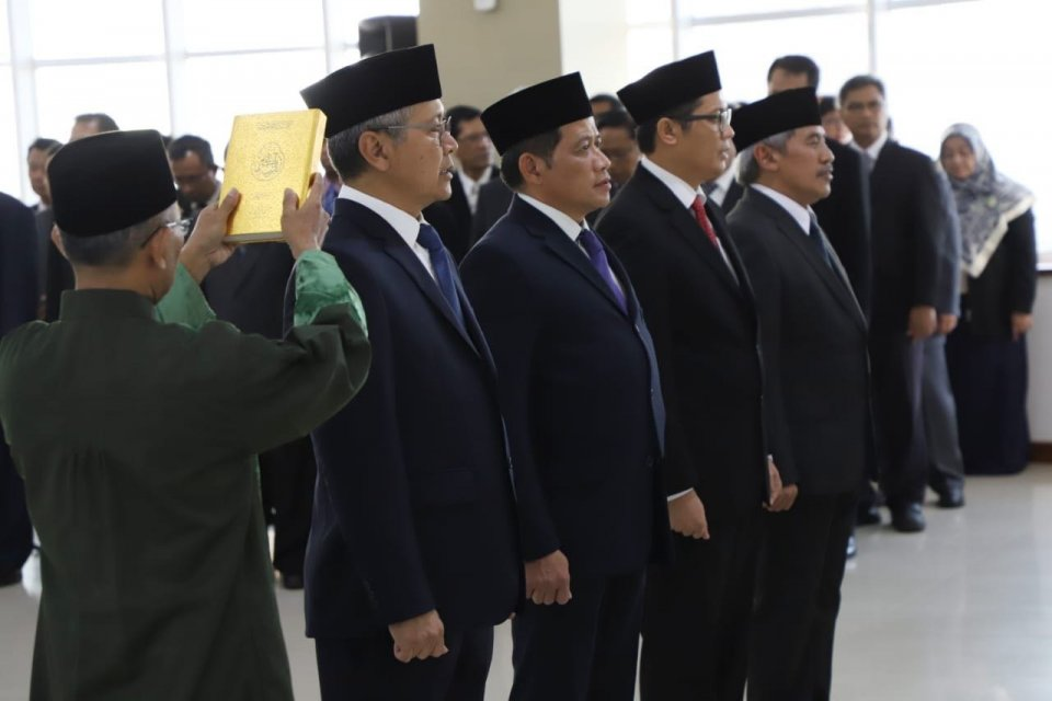 Menteri KKP melantik empat pejabat eselon I.