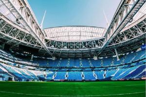 Stadion Saint Pittersburg menjadi salah satu lokasi perhelatan Piala Dunia 2018 di Rusia