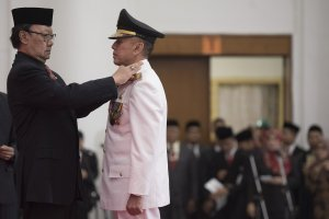 Pelantikan Gubernur Jabar Iriawan