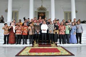Presiden Jokowi Bertemu Bupati Seluruh Indonesia