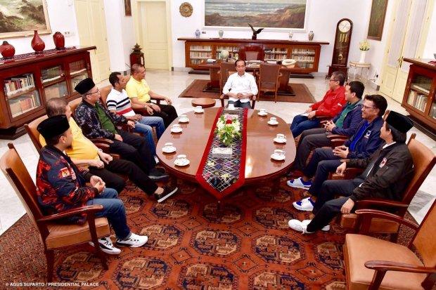 Pertemuan Sekjen Parpol Koalisi dengan Presiden Jokowi