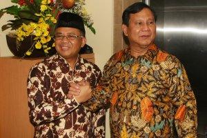 Ketum Gerindra Prabowo Subianto dan Ketum PKS Sohibul Iman