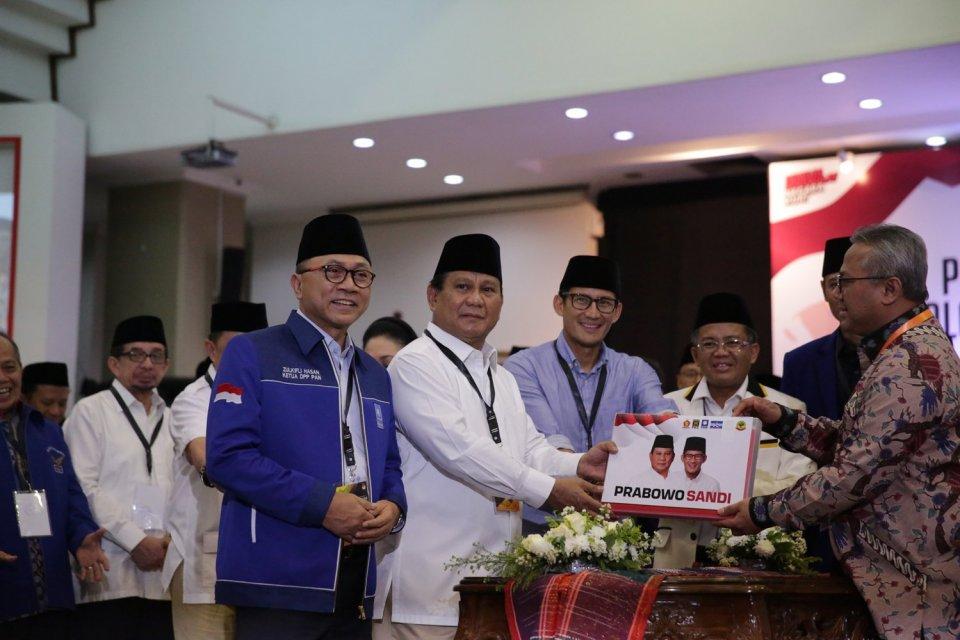 koalisi Indonesia Adil dan Makmur, Prabowo, Sandiaga, PAN, koalisi pecah, Jokowi, pemilu, pilpres 2019