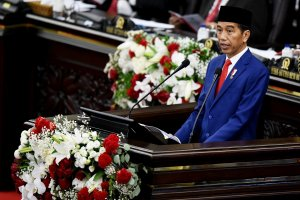 Presiden Joko Widodo di Sidang Tahunan MPR 2018