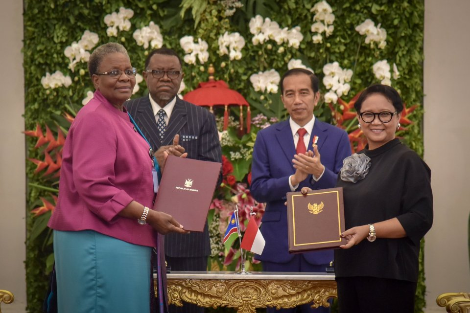 Presiden Jokowi dan Presiden Namibia Hage Gottfried Geingob