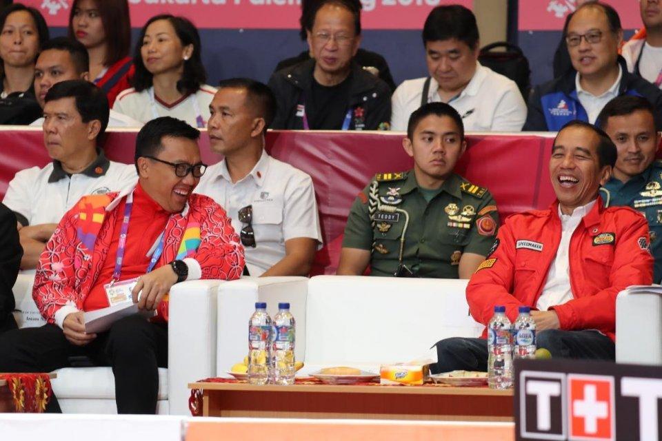 Asian Games - Jokowi dan Menpora