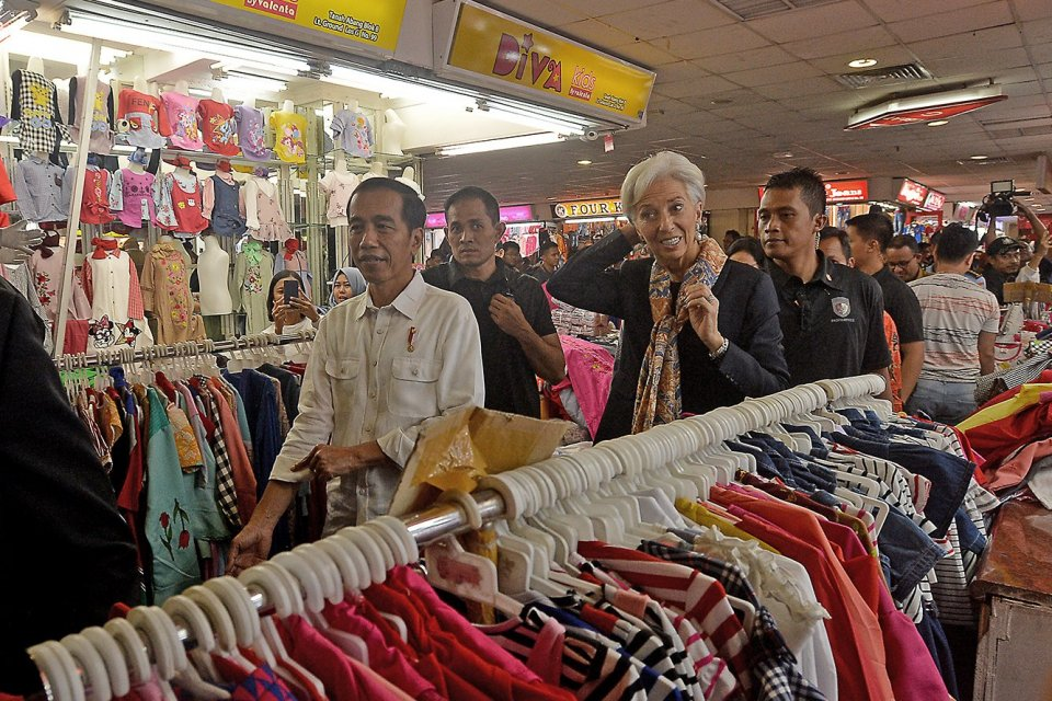 Jokowi dan Christine Lagard IMF