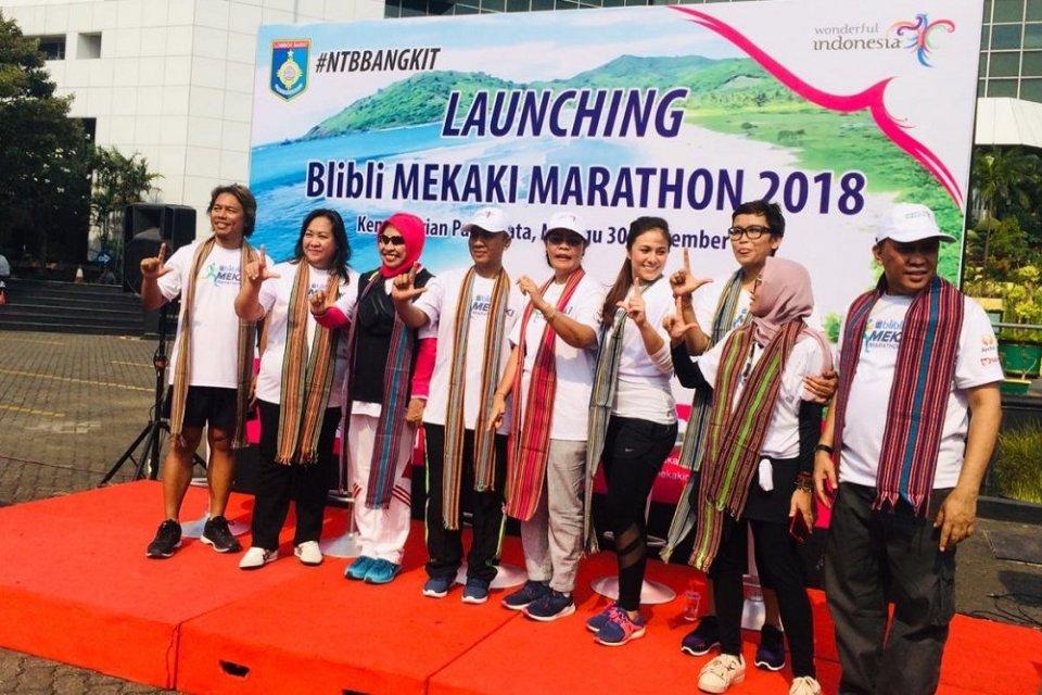 Kementerian Pariwisata bersama Blibli.com menggelar event sport tourism bertajuk Blibli Mekaki Marathon 2018.