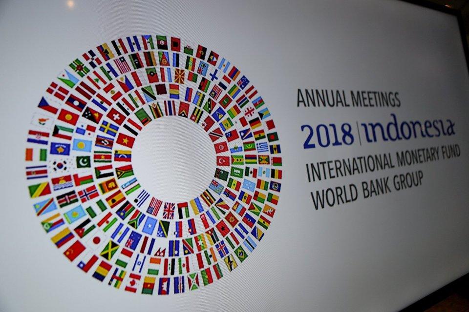 IMF, proyeksi pertumbuhan ekonomi global, Bank Dunia, World Economic Outlook, proyeksi defisit transaksi berjalan
