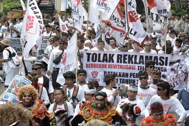 Demo Tolak Reklamasi Teluk Benoa