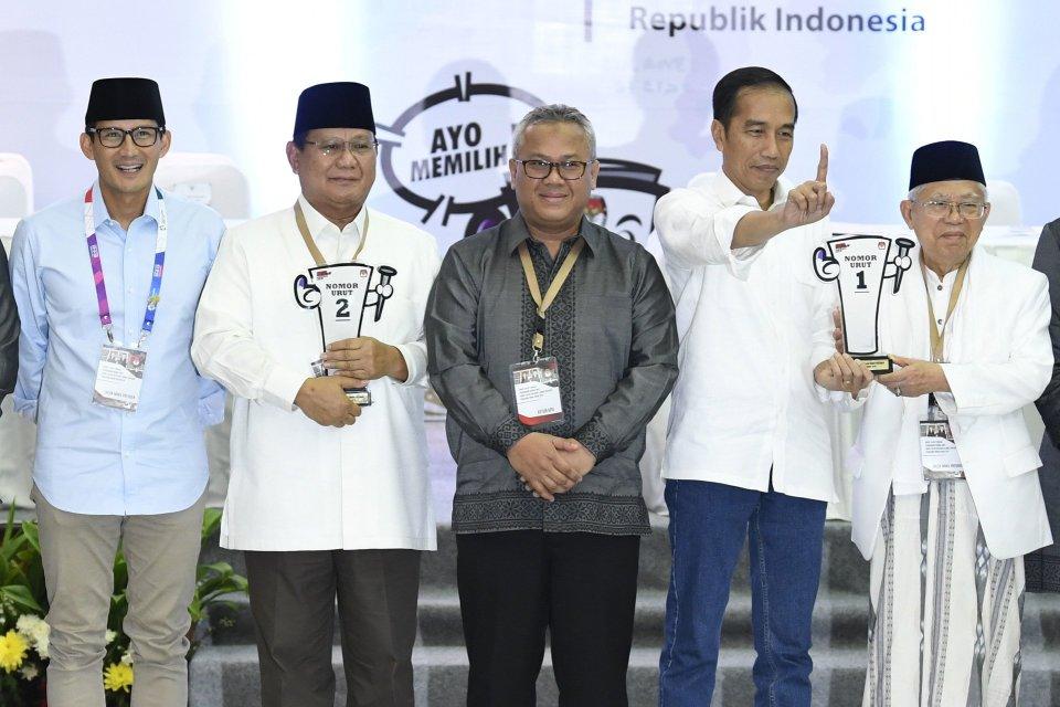 Jokowi dan Prabowo di KPU