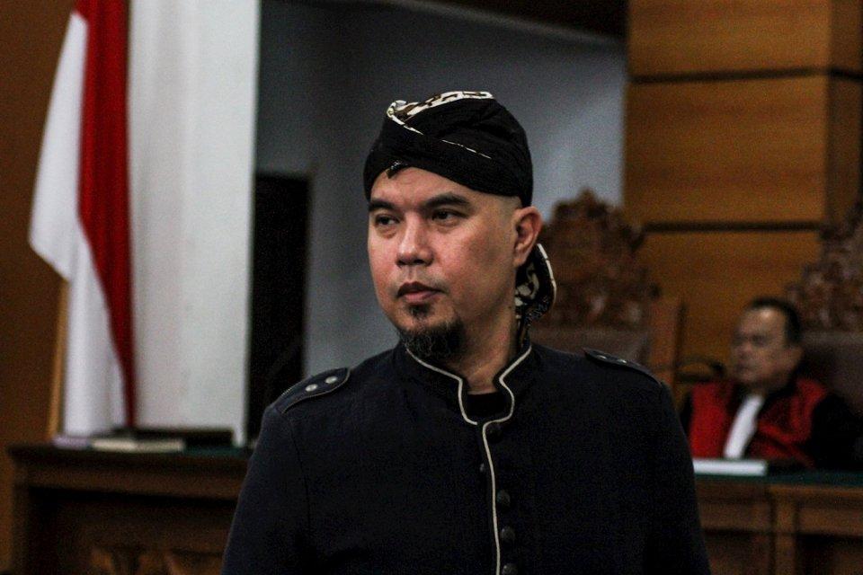 Ahmad Dhani di Pengadilan Negeri Jakarta Selatan