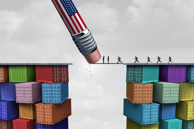 Ilustrasi Telaah - Perang dagang AS-Tiongkok