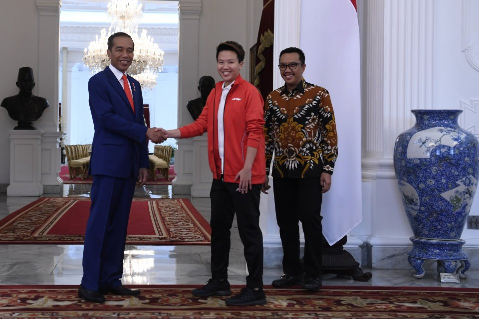 Liliyana Natsir dan Presiden Joko Widodo
