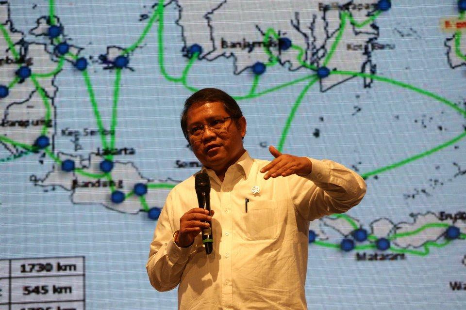 Rudiantara selaku Mentri Komunikasi dan Informatika Republik Indonesia dalam acara Indonesia Economi Day 2019(IED 2019) di Hotel Mulia, Jakarta (31/1).