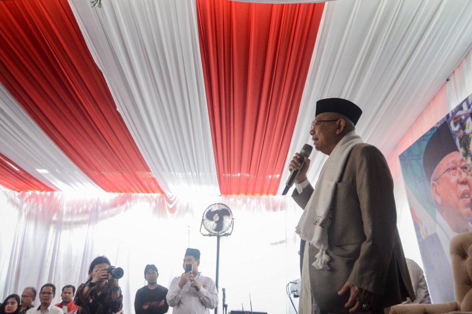 Calon Wakil Presiden nomor urut 02 Ma'ruf Amin