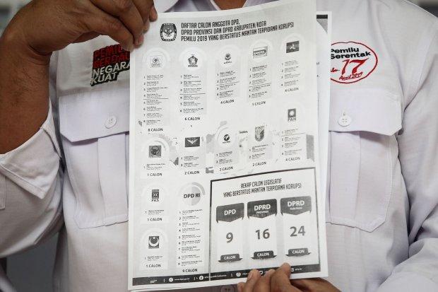KPU umumkan daftar caleg eks napi koruptor