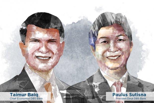 Managing Director of DBS Bank Taimur Baiq dan Presiden Direktur DBS Indonesia Paulus Sutisna.