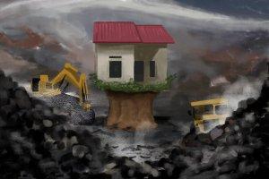 Ilustrasi penambangan batu bara ilegal.