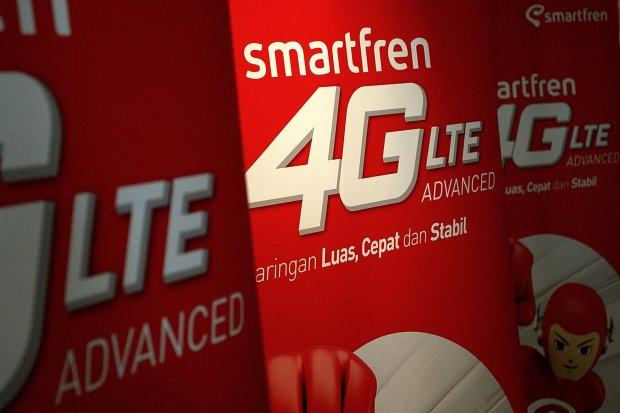 Suasana Launching Smartfren 4G LTE Advance di Jakarta, Rabu, (18/08).