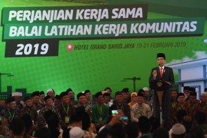 Presiden Joko Widodo di Perjanjian Kerja Sama BLK