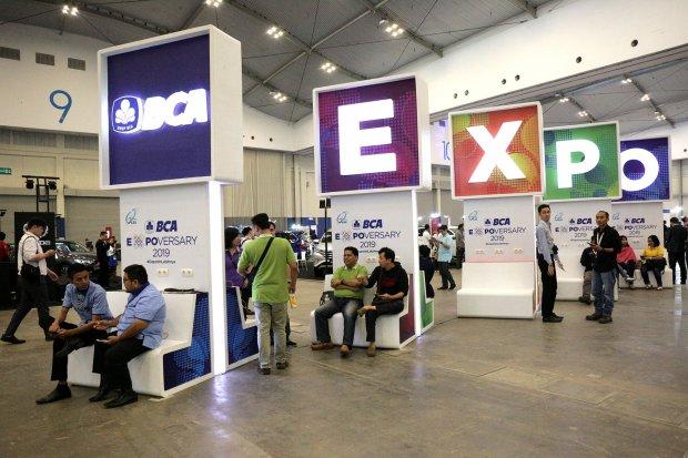Suasan BCA expo di ICE BSD, tanggerang, Banten (22/2). Dalam ulng tahun yang ke 62 BCA mengadakan BCA expo yang berlangsung pad 22-24 Agustus
