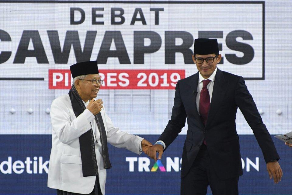 Setelah dihubungi Sandiaga Uno, Ma'ruf Amin menyerukan rekonsiliasi nasional usai Pilpres 2019.