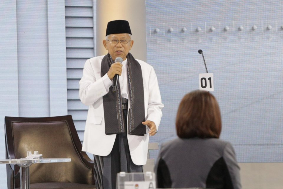 profil Ma'ruf Amin, Jokowi'Ma'ruf menang Pilpres 2019