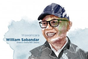 Direktur Utama PT MRT William P Sabandar