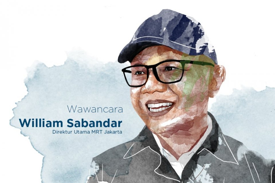 Direktur Utama PT MRT William P Sabandar