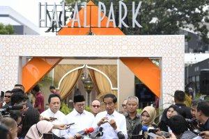 Presiden Joko Widodo Meresmikan Halal Park