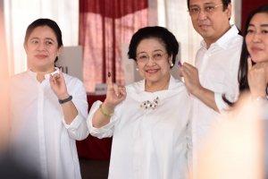 Megawati Mencoblos di Kebagusan