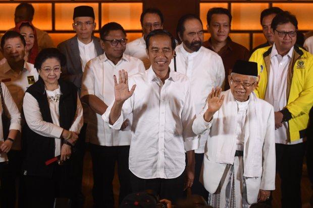 Jokowi-Maruf menang versi quick count