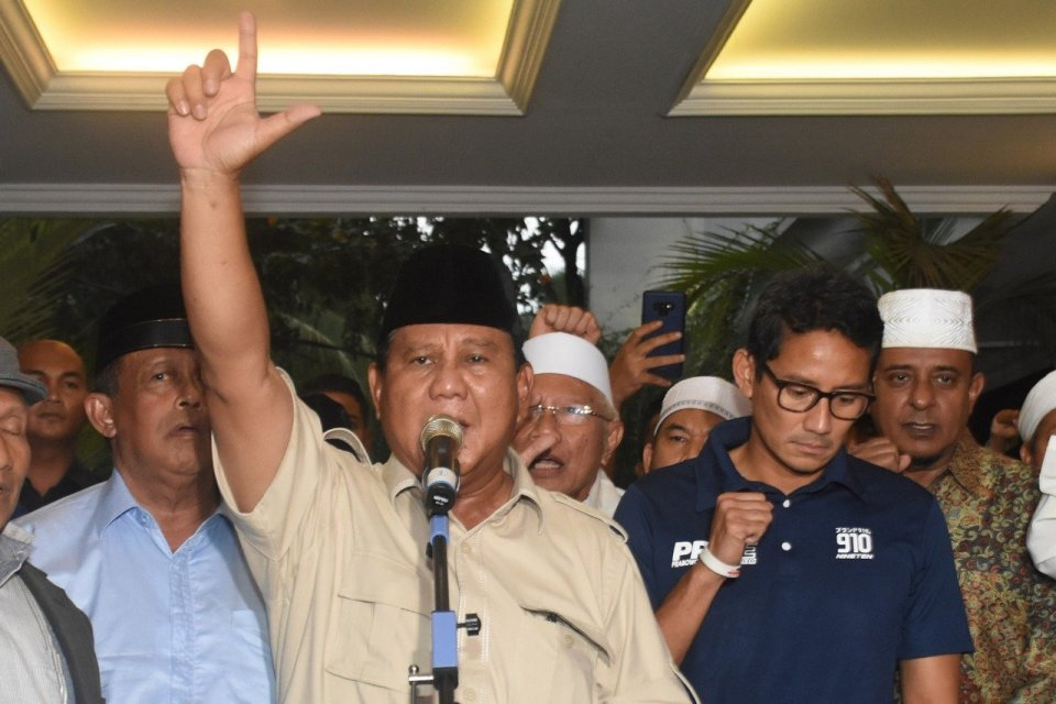 Pilpres 2019, Prabowo, Sandiaga