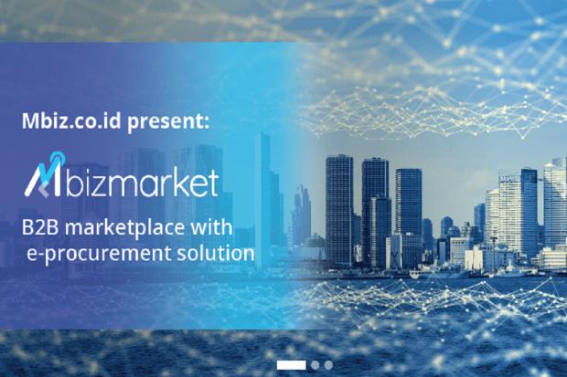 Mbiz meluncurkan platform e-commerce Mbizmarket untuk skema business-to-business (B2B), Senin (22/4).