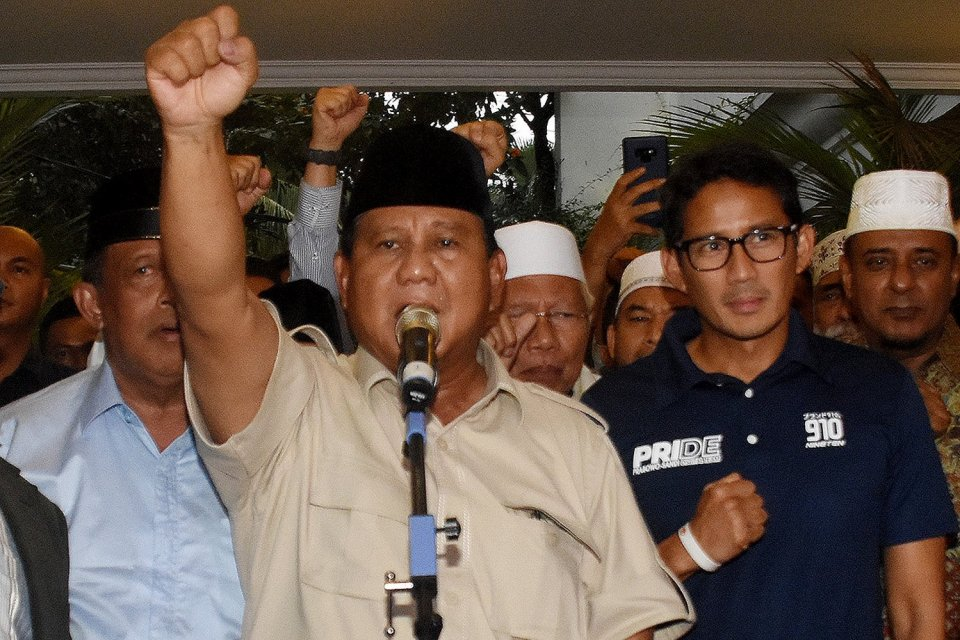 BPN Prabowo-Sandiaga, Prabowo-Sandiaga, Pilpres 2019