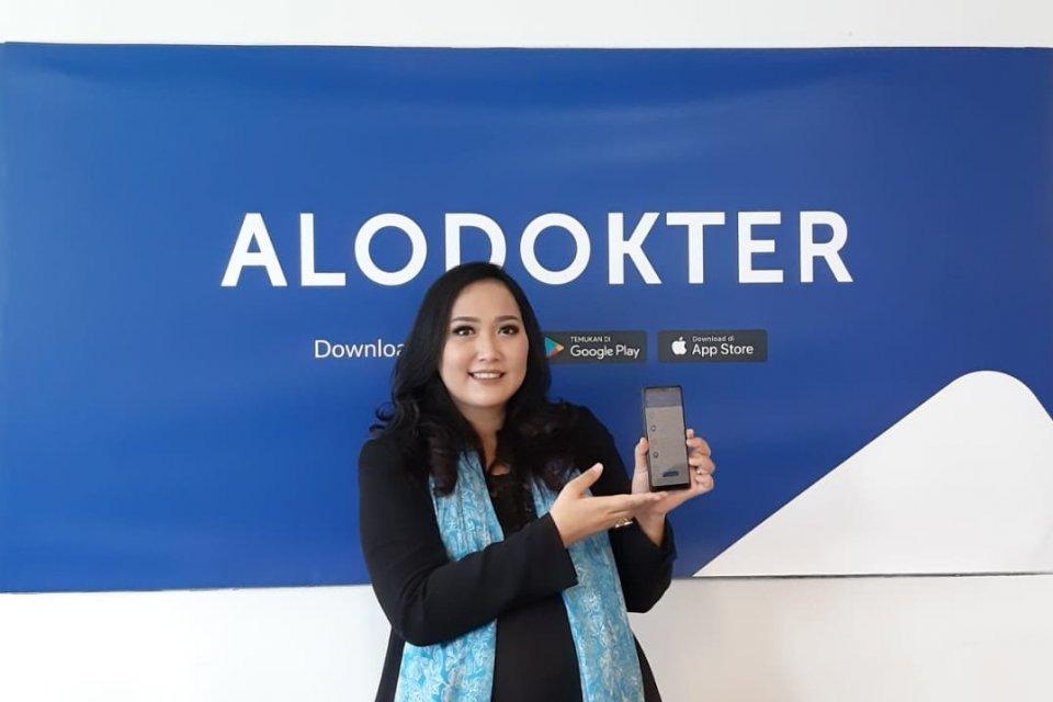 Co-Founder dan Director Alodokter Suci Arumsari usai acara Media Lunch with Alodokter di kantornya, Kamis (25/4).