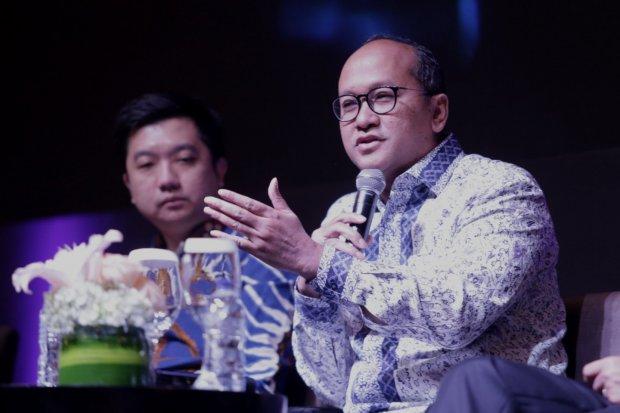 "Rosan P. Roeslani, Kepala Kamar Dagang Indonesia dalam acara HSBC X Katadata.co.id Indonesia Economic Update ""The Golden Moment of Indonesia Economy"" di Hotel Kempinski, Jakarta Pusat (30/4)."