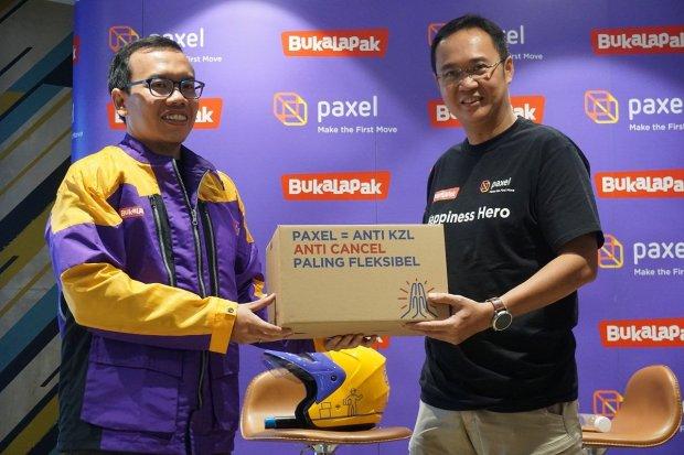 Co-Founder sekaligus President Bukalapak Fajrin Rasyid dan Co-Founder Paxel Zaldy Ilham Masita