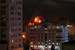 Serangan Udara Israel di Kota Gaza