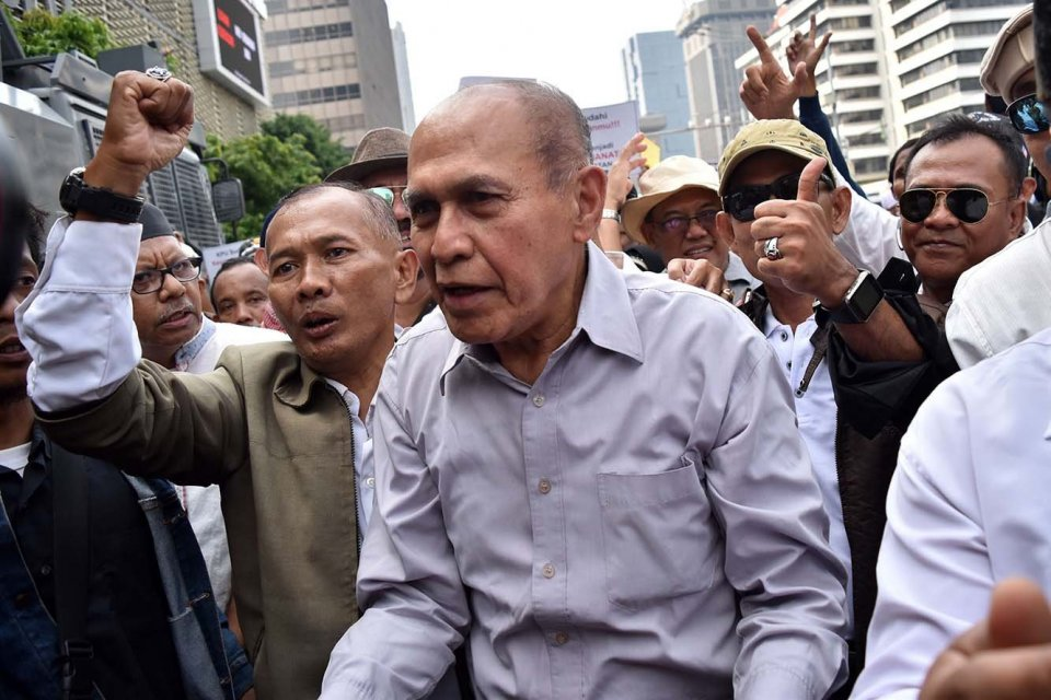 Mantan Kepala Staf Komando Strategis Angkatan Darat (Kas Kostrad) Mayjen TNI Purnawirawan Kivlan Zein.